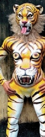 Durga Pujo theme  -Tiger Conservation